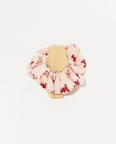 Roze scrunchie met kreeftjes