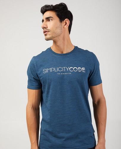 Blauw T-shirt van biokatoen