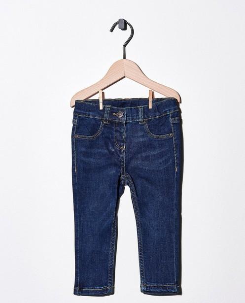 Donkerblauwe jeans met stretch - van denim - Cuddles and Smiles