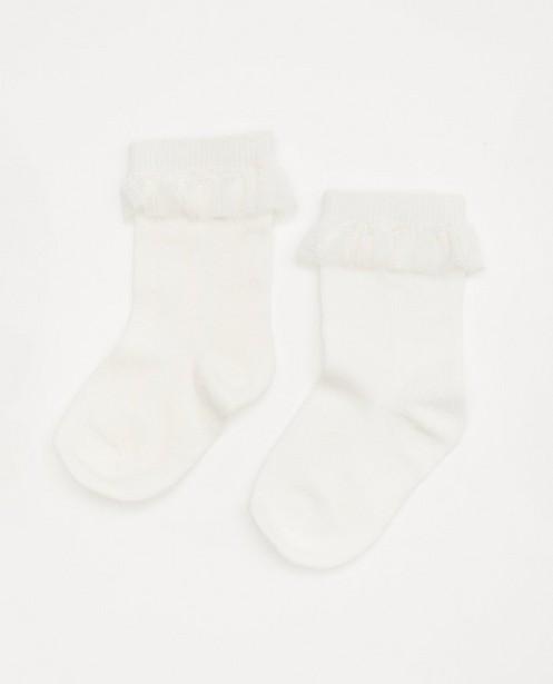 Chaussettes blanches premium avec du tulle pour bébés - fête - Cuddles and Smiles