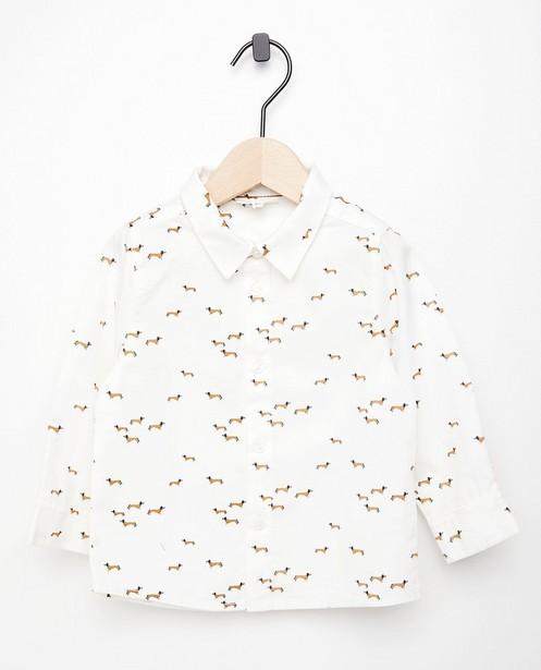 Chemise blanche à imprimé - Fête - imprimé intégral - Cuddles and Smiles