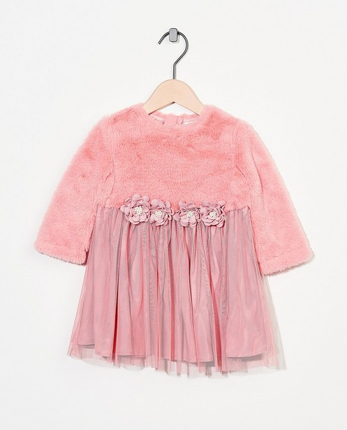 Robe rose fleurie - Fête - tulle - Cuddles and Smiles