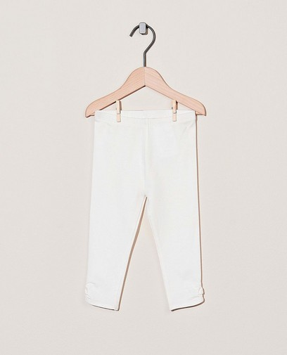 Witte legging met strikje Feest