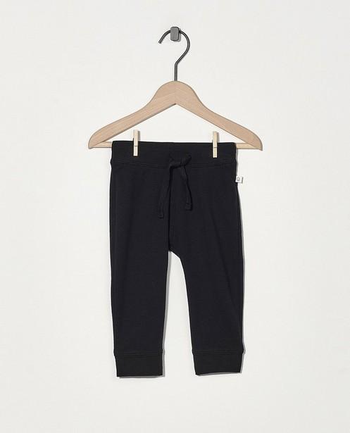 Pantalon molletonné noir en coton bio - stretch - Cuddles and Smiles