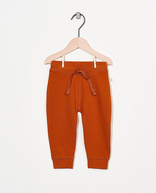 Pantalon molletonné rouille en coton bio - stretch - Cuddles and Smiles