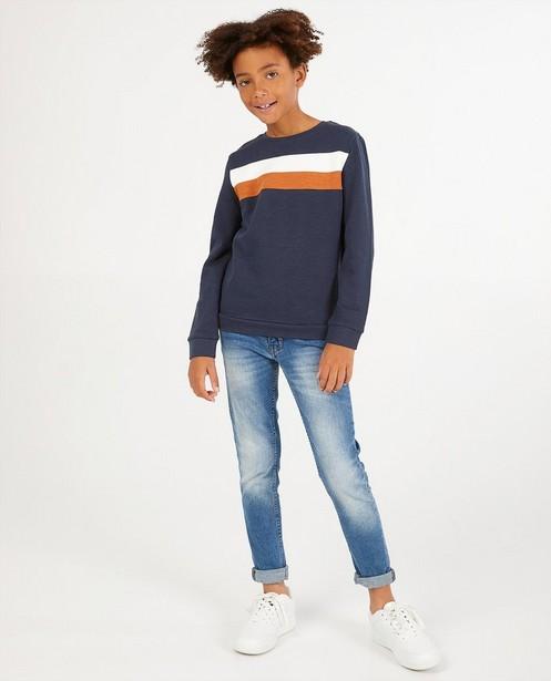 Blauwe sweater met strepen BESTies - stretch - Besties