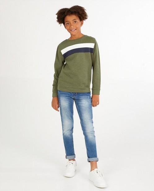 Groene sweater met strepen BESTies - stretch - Besties
