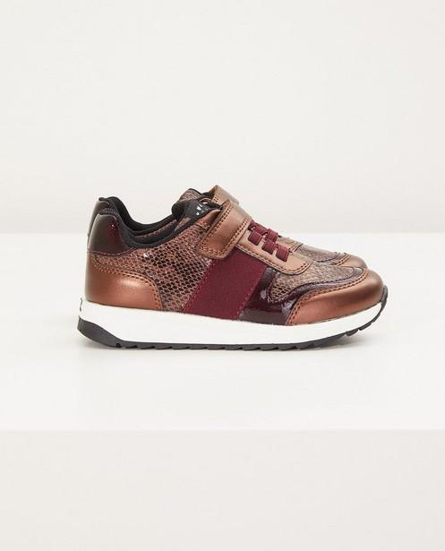 Bordeauxfarbene Sneakers, Größe 27-32 - mit Tierprint - Sprox