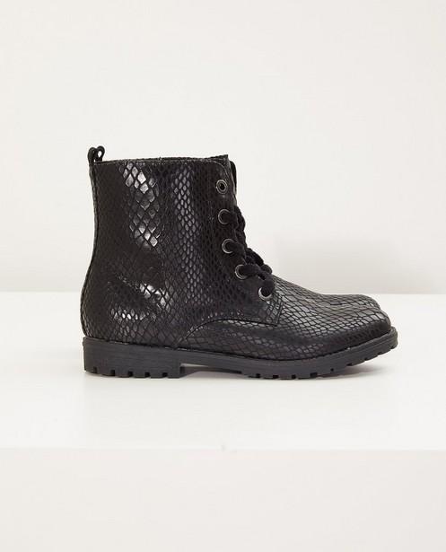 Schwarze Stiefel, Größe 33-38 - mit Muster - Sprox