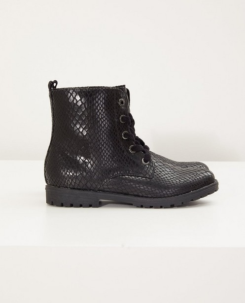 Zwarte laarzen, maat 33-38 - met patroon - Sprox