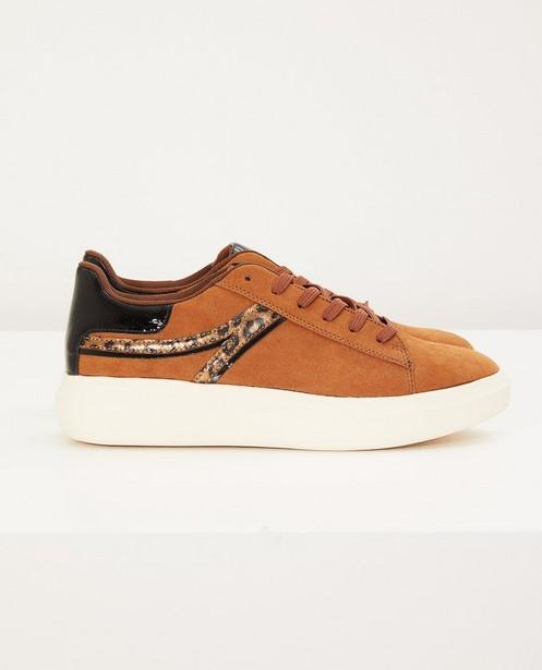 Bruine sneakers, maat 36-41 - met dierenprint - Sprox