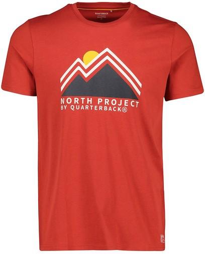 Rood T-shirt van biokatoen