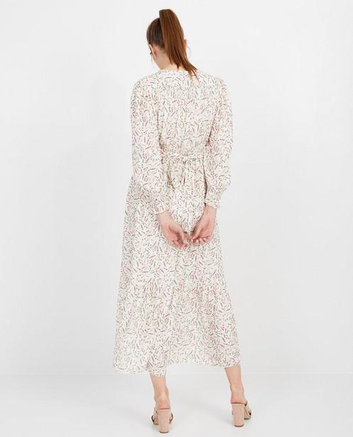 Kleedjes - Witte maxi-jurk met print