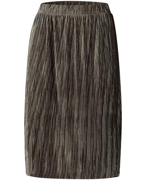 Jupe plissée grise en velours Sora - et fil métallisé - Sora