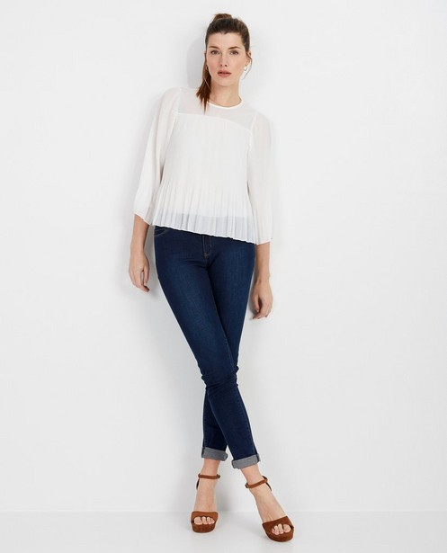 Witte blouse met plissé - losse fit - pari