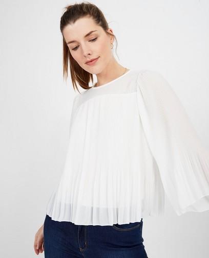 Witte blouse met plissé