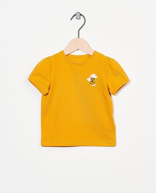 T-shirt jaune en coton bio - à petites fleurs - Cuddles and Smiles