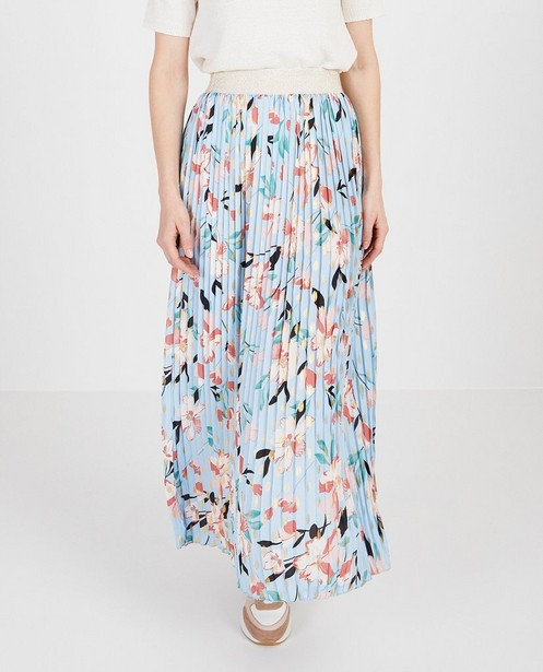 Rokken - Blauwe rok met print Atelier BXL