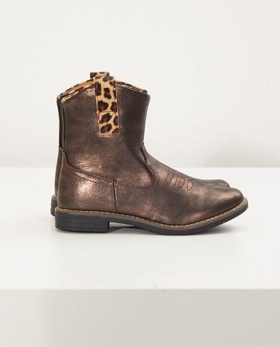 Boots western brun métallisé
