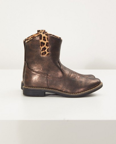Western Boots in Braun Metallic