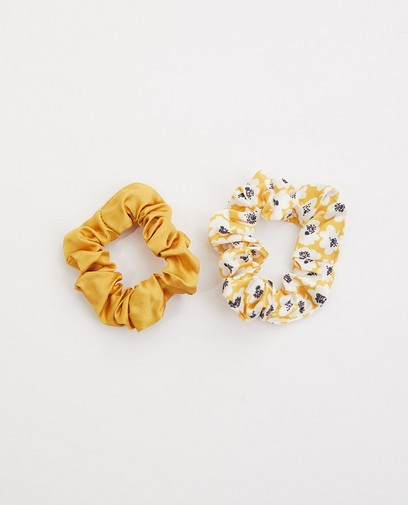 Set van 2 gele scrunchies