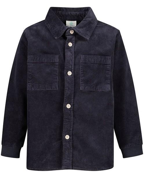 Chemise en velours côtelé bleu Enfant - fines côtes - Enfant