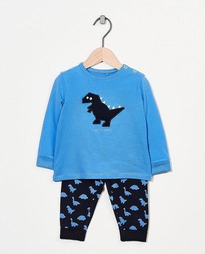 Pyjama évolutif bleu à imprimé