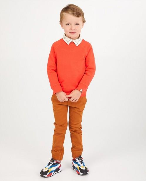 Rode sweater - effen - Kidz Nation