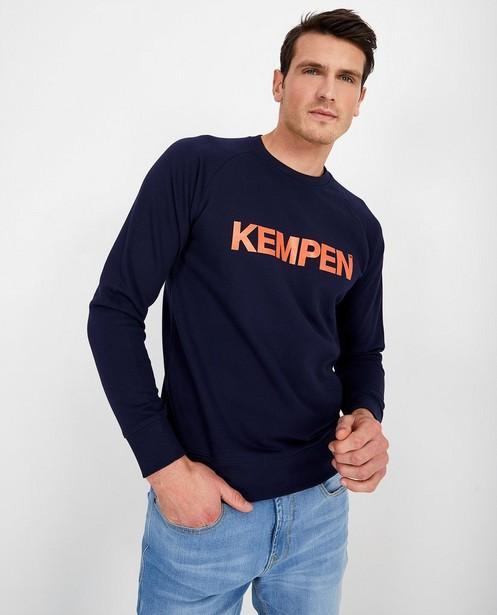 Blauwe unisex sweater KEMPEN™ - met opschrift - Kempen