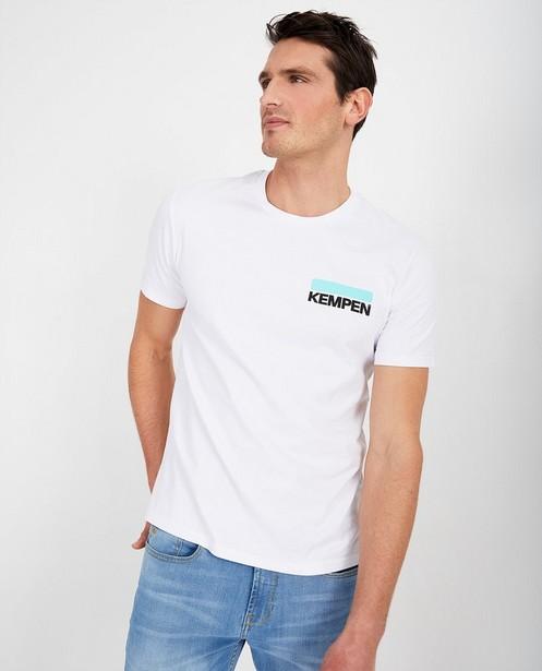 Wit unisex T-shirt KEMPEN™ - met opschrift - Kempen