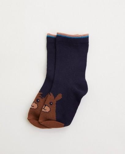 Chaussettes bleues avec un ourson pour bébés