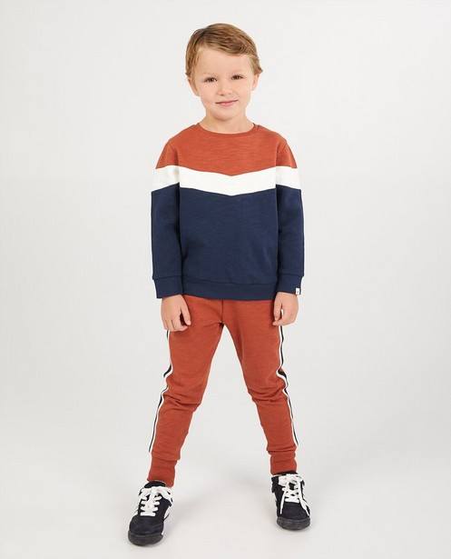 Sweat en coton bio - color block - Kidz Nation
