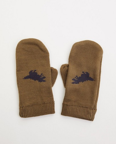 Moufles kaki - dinosaure
