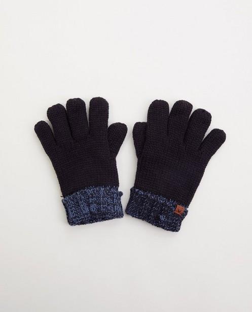 Dunkelblaue Handschuhe - gestrickt - JBC