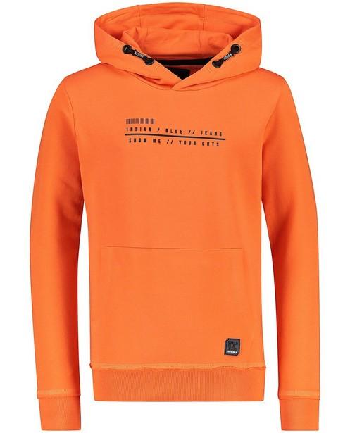 Oranje hoodie Indian Blue Jeans - met vaste capuchon - Indian Blue