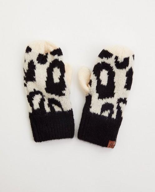Moufles avec imprimé léopard - noir et blanc - JBC