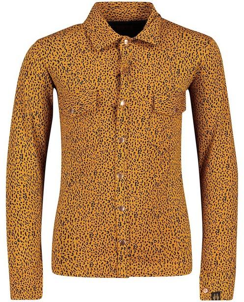 Camel hemd met print Topitm - allover - Topitm