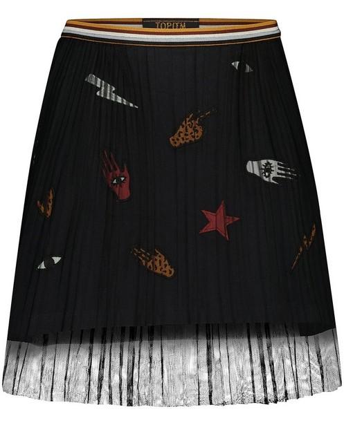 Zwarte rok met patches Topitm - en tule - Topitm