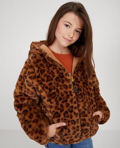 Bruine omkeerbare jas