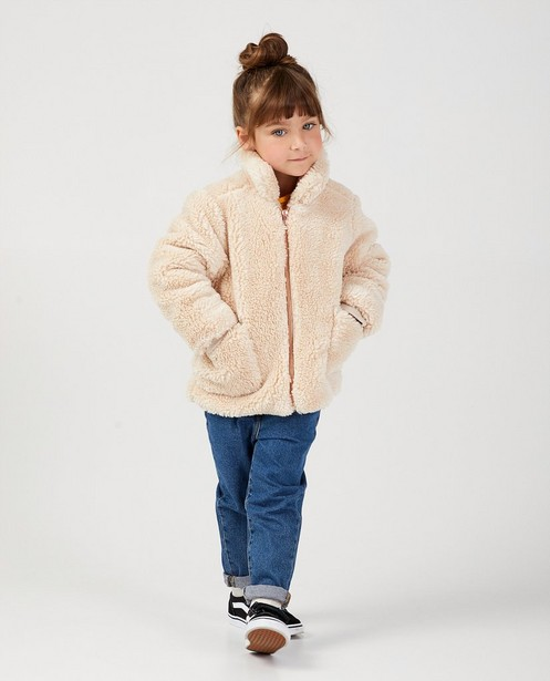 Manteau teddy beige - uni - JBC