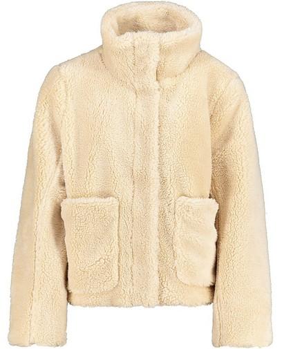 Manteau en peluche beige Sora