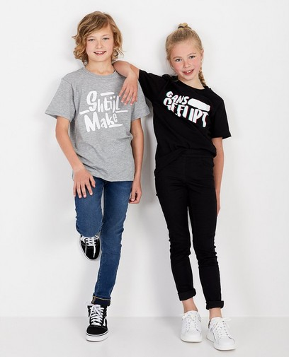 Schwarzes Unisex-T-Shirt Genkse Shtijl