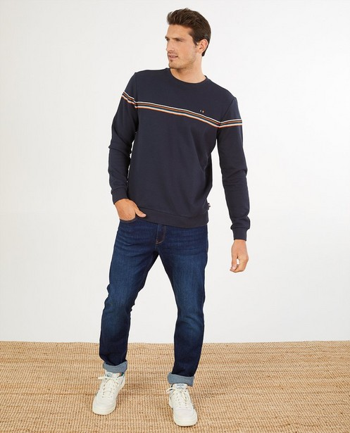 Blauwe sweater van biokatoen I AM - milieubewust - I AM