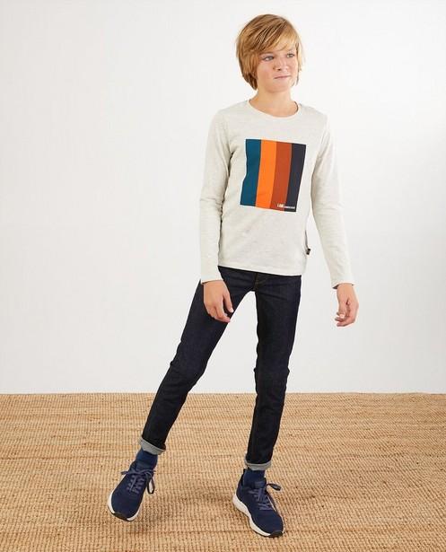 T-shirt à manches longues en coton bio I AM - à imprimé - I AM