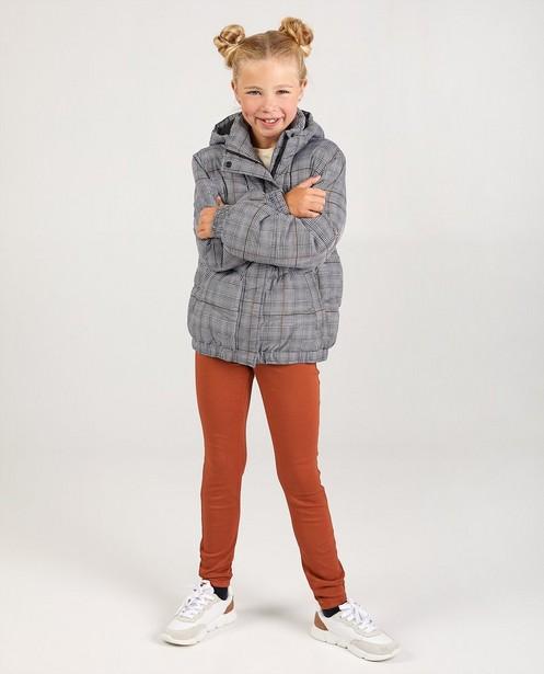 Manteau gris à carreaux - intégral - JBC