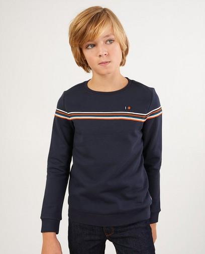 Blauer Sweater aus Biobaumwolle I AM
