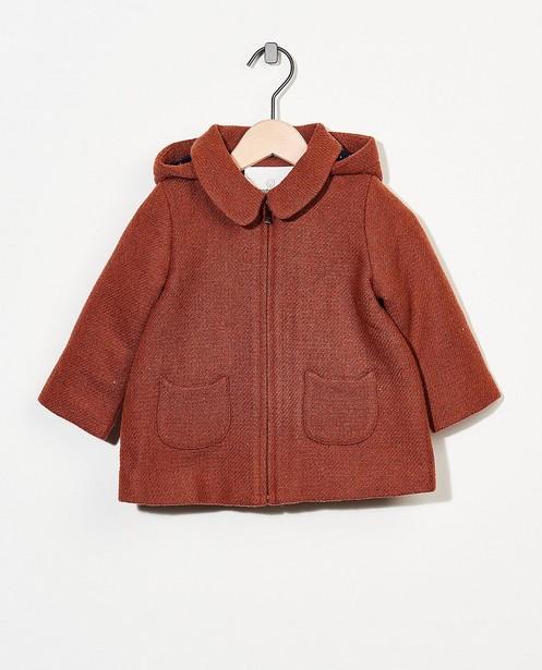 Manteau brun avec fil métallisé - intégral - Cuddles and Smiles