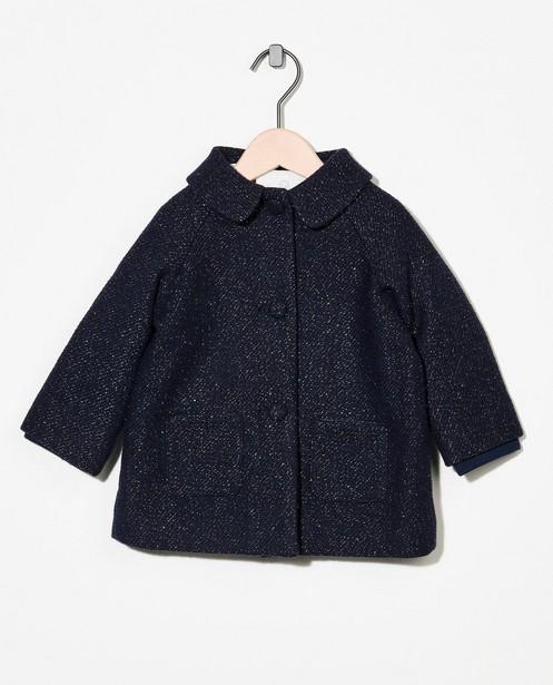 Manteau bleu foncé avec fil métallisé - intégral - Cuddles and Smiles