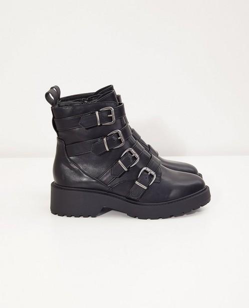 Zwarte laarzen, maat 36-41 - met gespen - BBXR By Bullboxer