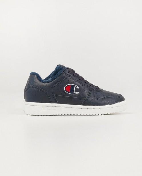 Blauwe Champion-sneakers, 28-32 - gestipt detail - Champion